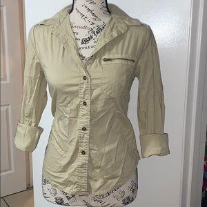 Anthropology button blouse